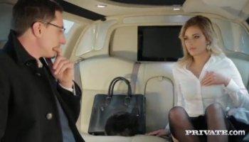 Blonde Webcam Girl Has Great Orgasms Riding Dildo Chair