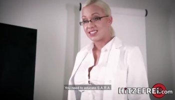 Perky tits blonde drilled by pawn dude