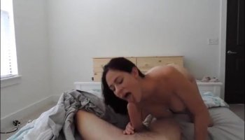 Busty amateur Cyrstal Rae takes it deep into her wet vag