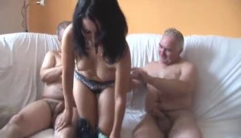 Darling sucks on guys giant rod like a lusty whore
