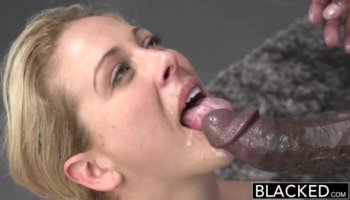 German buxom chick gets facefucked and bridled by fat dick