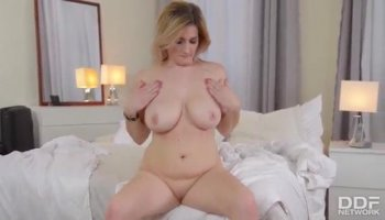 Petite chick Nikki Kay gets a meaty cock in variou